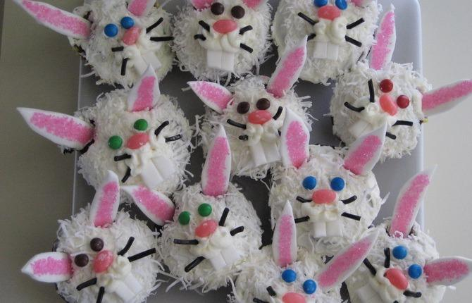 Easter bunny cupcakes 1