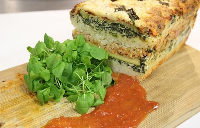 Minute Rice Veggie Lasagna Loaf 1