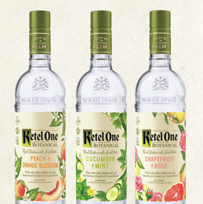Ketel One Bottles lineup