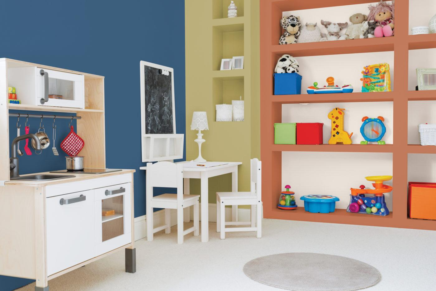 Dulux Kids Room Featuring Chinese Porcelain Brown Clay and Gracious Glow