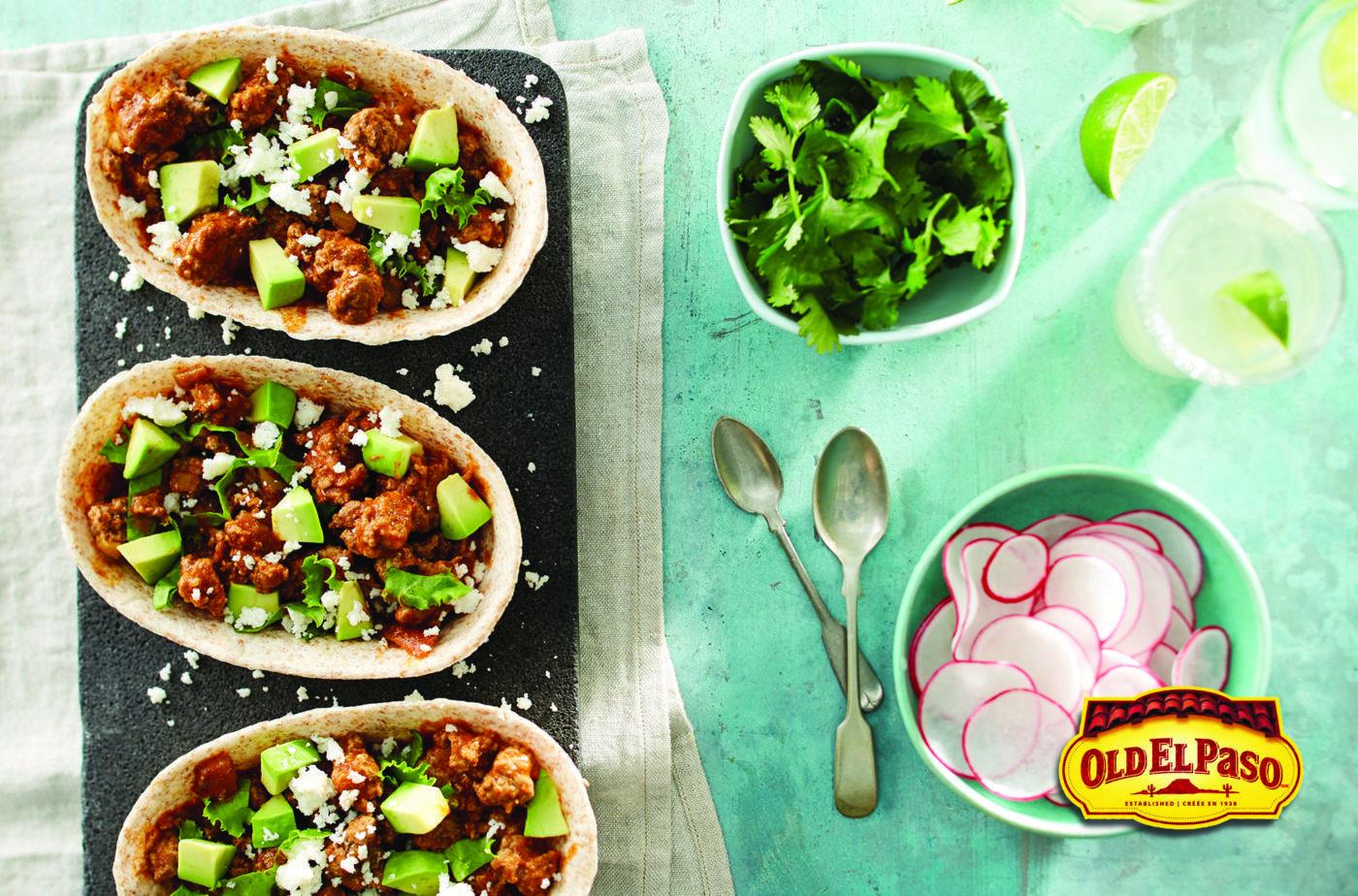 Beef and Avocado Whole Wheat Taco Boats