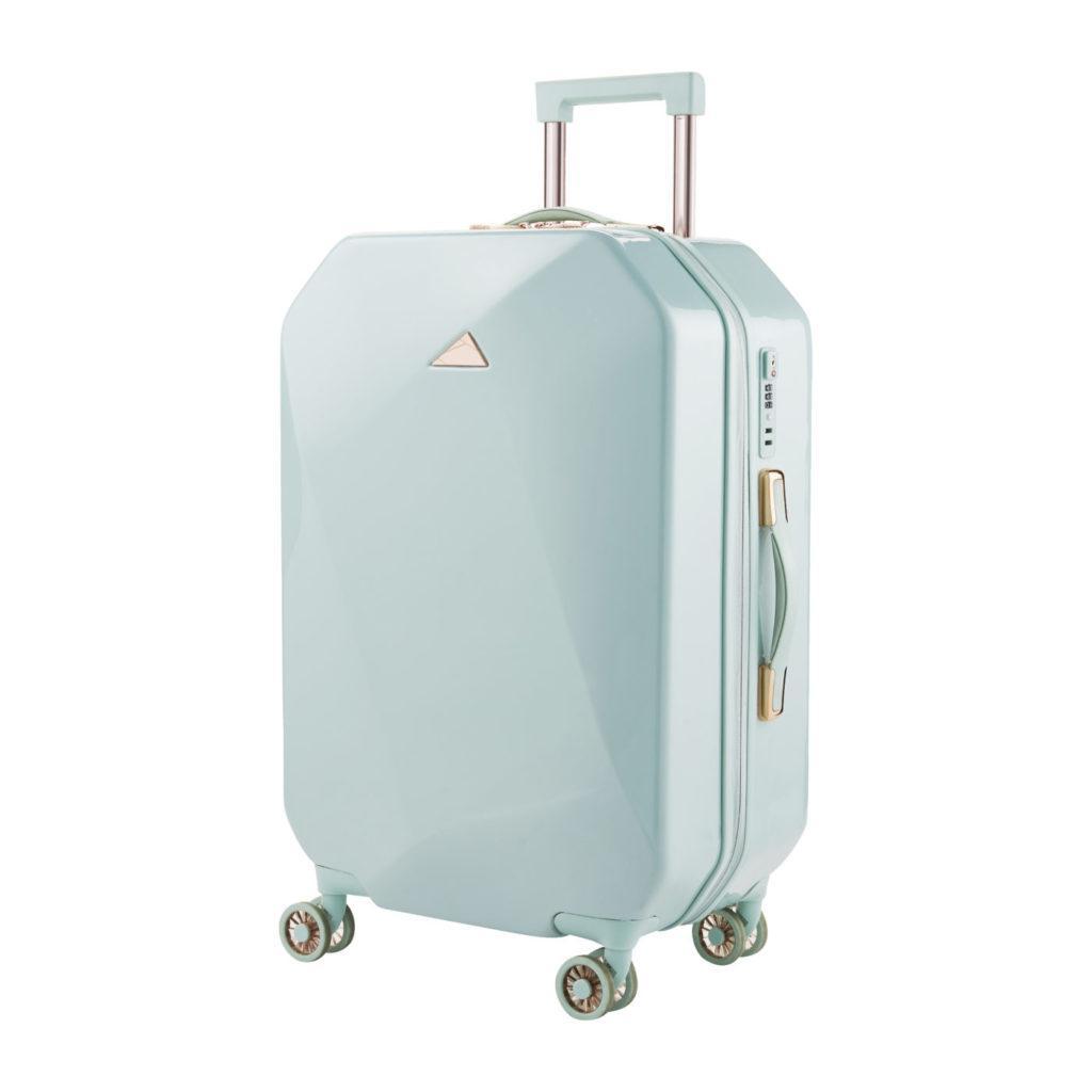 Sky Blue Geo Suitcase