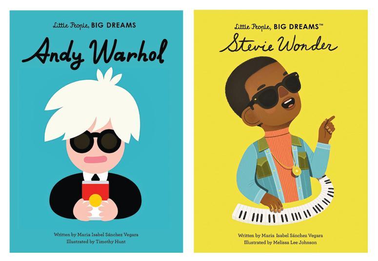 Little People, Big Dreams, Andy Warhol/Stevie Wonder By Maria Isabel Sanchez Vegara